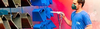 Acabamentos Anodizados ou Pintura Eletrostática